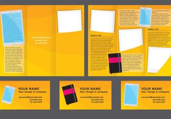 Design Fold Brochure - Free vector #151927