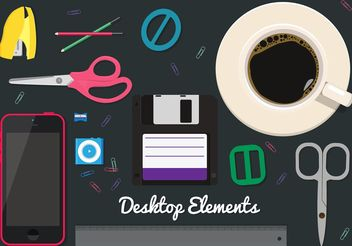 Free Desktop Vector Elements - Kostenloses vector #151937