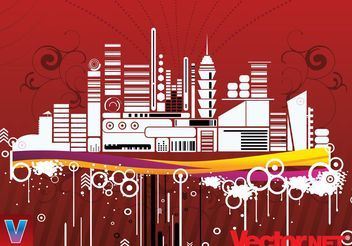 City Illustration - vector #151967 gratis