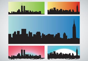 NYC Skyline - vector gratuit #151987