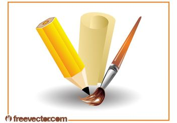Art Supplies Design - Free vector #152177