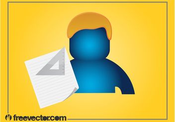 Person And Stationery Graphics - vector gratuit #152197