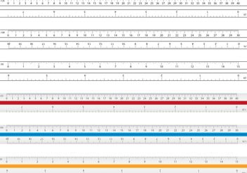 Architecture And Drafting Ruler Vectors - Free vector #152297