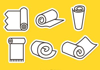 Carpet Roll Vector Outline Icons - vector gratuit #152317