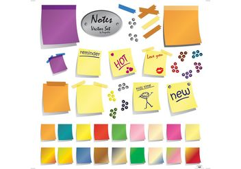 Post-It Notes - Kostenloses vector #152357