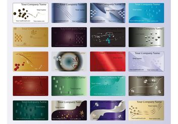 Company Cards Templates - vector #152437 gratis