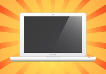 White Laptop - vector gratuit #152517