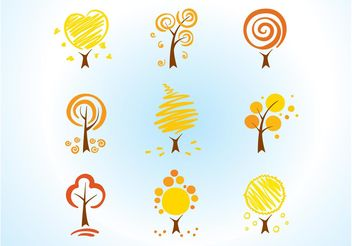 Cool Tree Icons - Free vector #152577