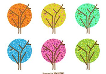 Minimal Seasonal Tree Vectors - Kostenloses vector #152617
