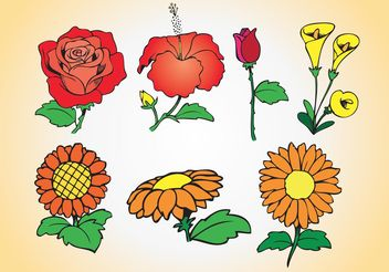 Spring Flowers Collection - Free vector #152647