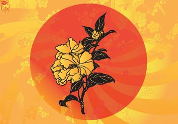 Asian Flowers - vector gratuit #152667