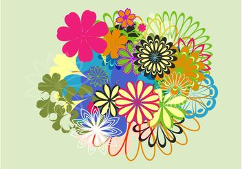 Spring Flowers Layout - vector gratuit #152687