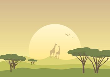Free African Savannah Landscape Vector - Free vector #152777