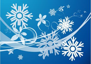 Snow Flowers Vector - бесплатный vector #152787