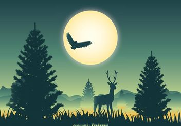 Beautiful Landscape Scene Illustration - Free vector #152807