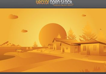 Village Landscape Vector - бесплатный vector #152817