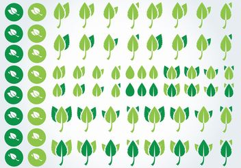 Green Leaves - vector #152847 gratis
