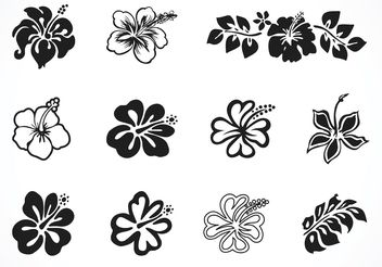 Free Vector Hibiscus Silhouettes - Free vector #152887