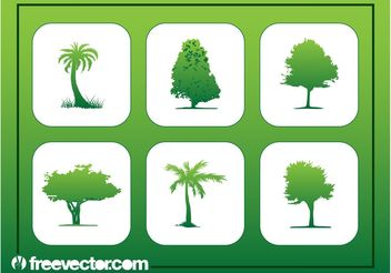 Tree Buttons - vector #152897 gratis