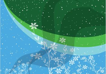Blue Green Flowers Background - vector gratuit #152907