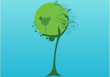 Swirly Tree - vector gratuit #152937