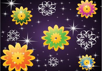 Purple Flowers Background - Free vector #152967