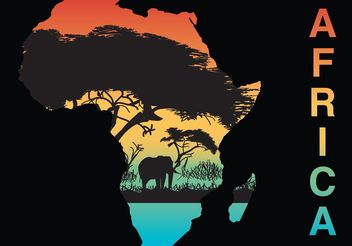 Africa Silhouette Vector - Free vector #152997