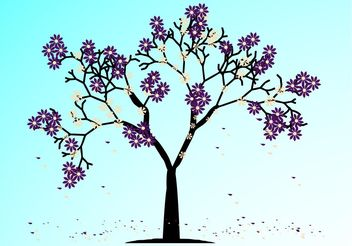 Blooming Spring Tree - vector gratuit #153047