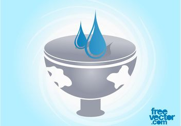 Vector Water Icon - vector #153147 gratis