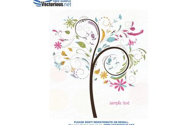 Free tree vector illustration - vector gratuit #153177