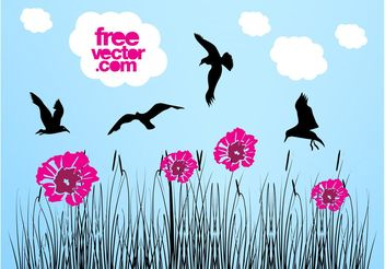 Vector Nature Graphics - Free vector #153217