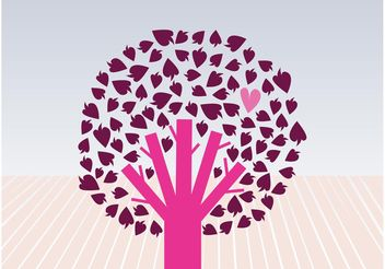 Tree Of Love - vector gratuit #153257