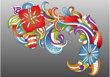 Fresh Colorful Flowers - vector gratuit #153267