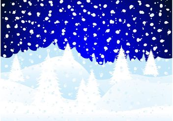 Snow Forest - Free vector #153307