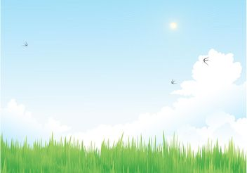 Spring Vector Meadow - vector gratuit #153327