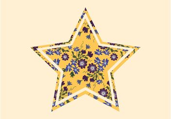Star With Flowers - vector gratuit #153337