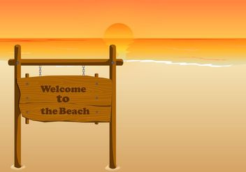 Welcome to the beach - vector gratuit #153357
