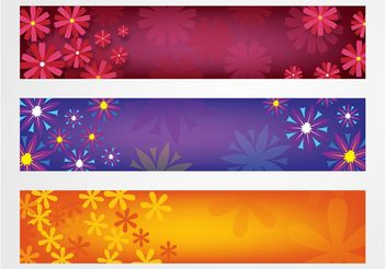 Flowers Banners Vector - бесплатный vector #153367