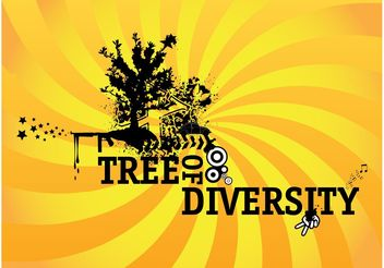 Tree Of Diversity - Free vector #153457