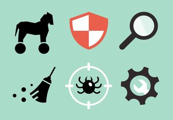 Computer Security Vector Icon Pack - Free vector #153497