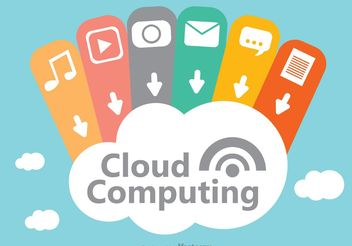 Cloud Computing Concept Design Vector - vector gratuit #153637