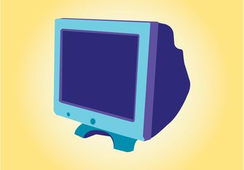 Monitor Design - vector #153777 gratis
