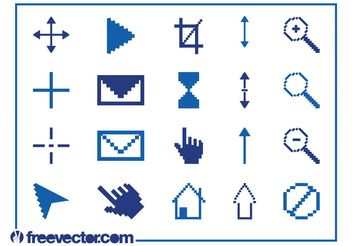 Pixelated Icons Graphics Set - Free vector #153807