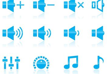 Volume And Audio Icons - vector #153857 gratis