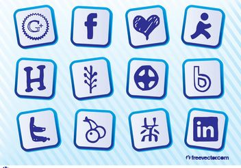 Social Media Graphics Pack - Free vector #153947