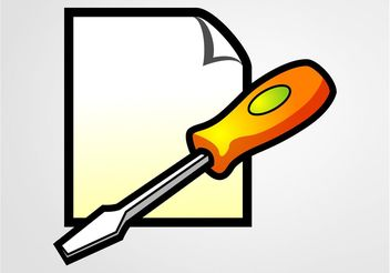 Screwdriver Icon - vector #153967 gratis
