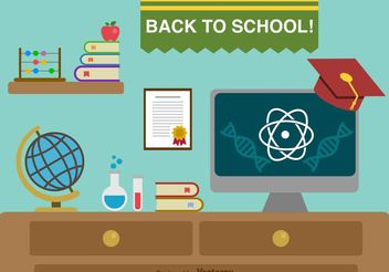 Back to school background - vector gratuit #154037