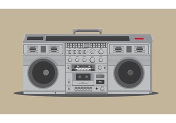 Free Detailed Boombox Vector - vector gratuit #154057