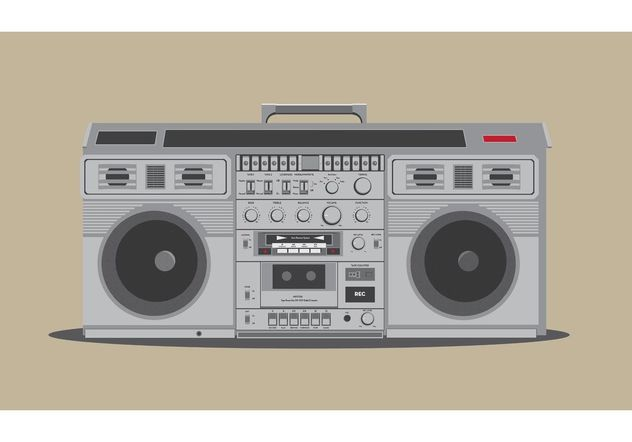 Free Detailed Boombox Vector - Free vector #154057