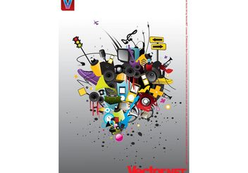 Graphic Design Footage - vector gratuit #154087